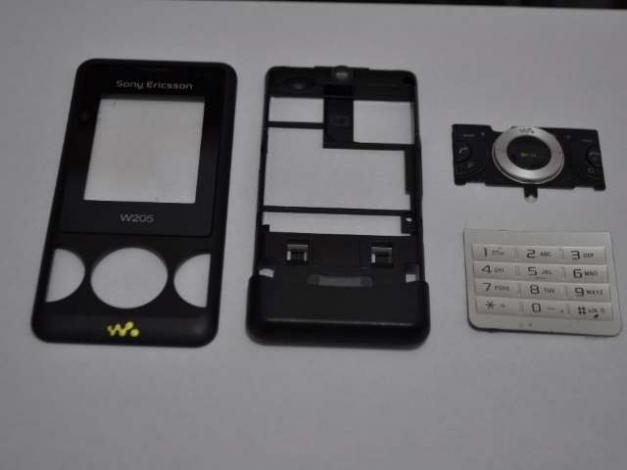 Carcasa Originala Sony Ericsson W205 4 Piese Swap - Neagra