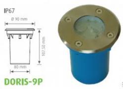 SPOT CU LED (3 X 1 W), 6400 K, ALB RECE, DORIS-9P