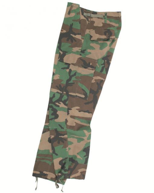 Pantaloni Militari BDU Ripstop Camuflaj Woodland