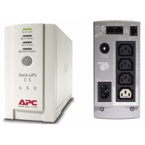 APC Back-UPS CS, 650VA/400W, off-line,  BK650EI