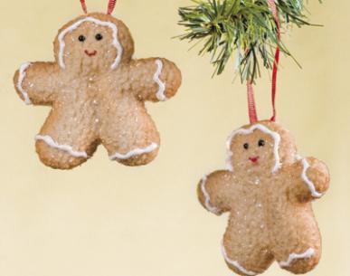 Set 10  ''biscuiti'' decorativi pentru brad