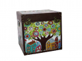 "Cufar vintage din lemn ""House tree"" mare- 50X50X50cm"