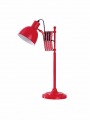 Lampa extensibila de birou rosie