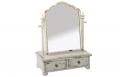 Dulap bijuterii cu oglinda vintage si 2 sertare