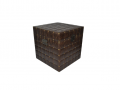 "Cufar vintage din lemn ""Brown epoch"" mic-30X30X30 cm"