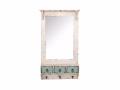 Oglinda si cuier de perete cu 3 agatatori-model vintage
