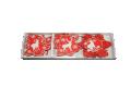 Set 12 decoratiuni rosii din lemn pentru brad