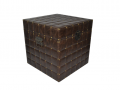 "Cufar vintage din lemn ""Brown epoch"" mare-40X40X40 cm"